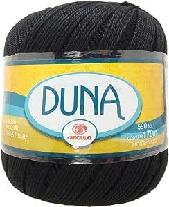 Hilo grueso de algodon color Negro. Para crochet y tejer