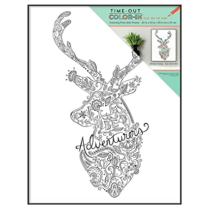 MCS 10x13 Inch Time Out Color In Frame Adult Coloring Page Adventurer Sentiment