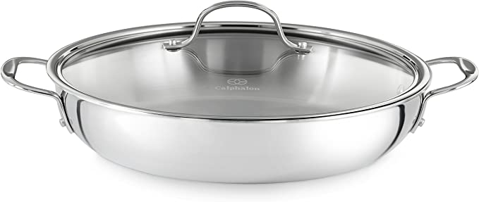 Amazon.com: Calphalon Tri-Ply Stainless Steel Cookware, Everyday Pan, 12-inch: Kitchen & Dining
