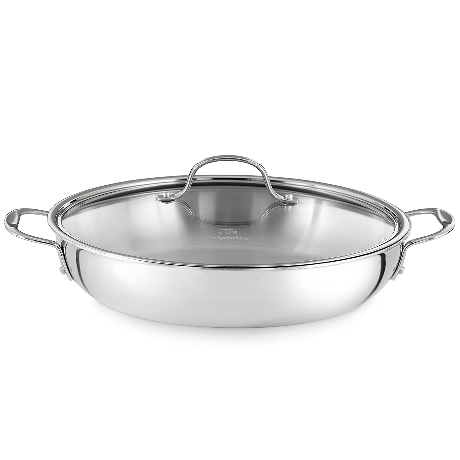 Amazoncom Calphalon Tri Ply Stainless Steel Cookware Everyday Pan