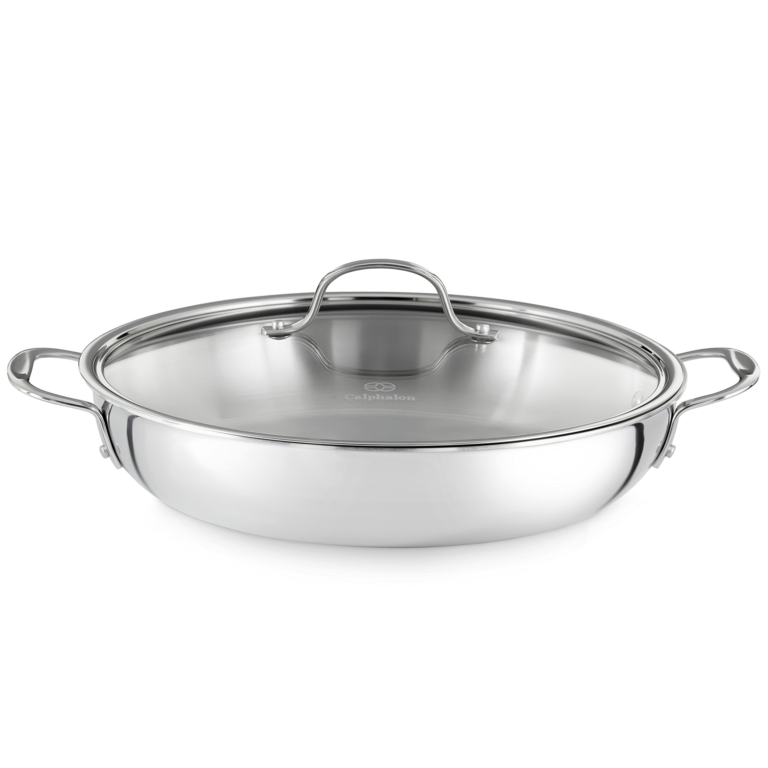 Calphalon Tri-Ply Stainless Steel Cookware, Everyday Pan, 12-inch