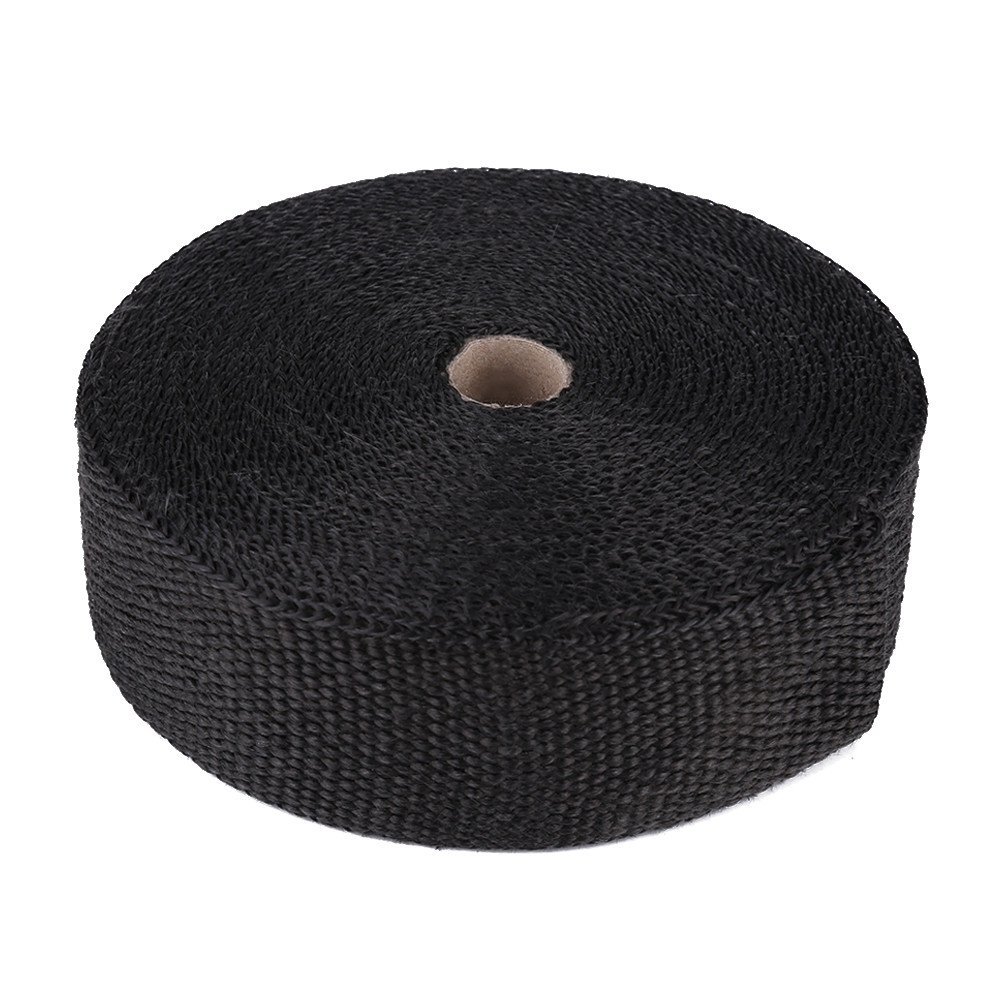 49ft Black High Heat Insulation Exhaust Pipe Wrap Tape Cloth For Car Hot Rod Wiring Harness Waterproof Motorcycle Motorbike