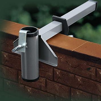 Favorit Amazon.de: Videx Sonnenschirmhalter Balkon-Mauerbrüstung Aluminium AG71