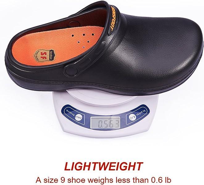 b10022fd2eb5 ... SensFoot Slip Resistant Chef Clogs for Kitchen Non Slip Work Shoes for Men  Women ...