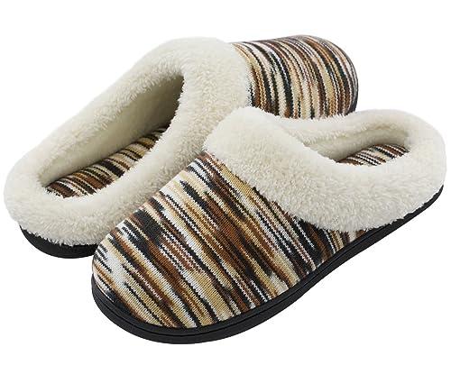 RockDove Women's Plush Woolen Memory Foam Slippers, Indoor Slip On House  Shoes by 5-