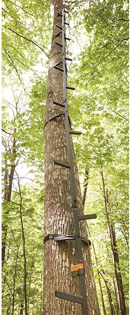 Tree Stand 25-Feet Climbing Sticks Hunting Ladder Deer Durable Steel Steps NEW