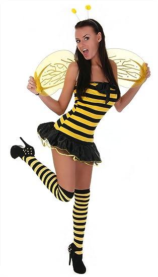 Sexy Karneval Fasching Bienenkostum Bienchen Biene Kostum Gogo Gr
