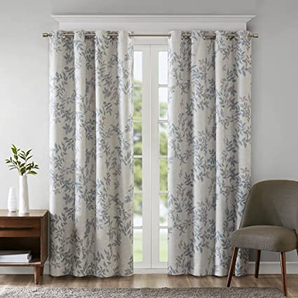 SunSmart Blackout Curtains For Bedroom, Casual Grommet Grey Window Curtains  For Living Room Family Room