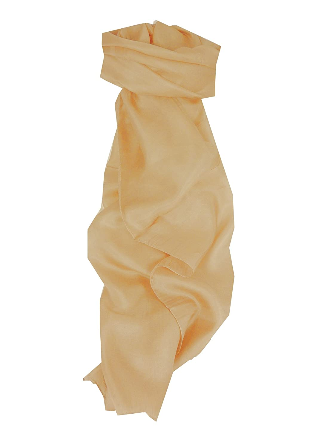 Mulberry Silk Hand Dyed Long Scarf Oyster from Pashmina & Silk