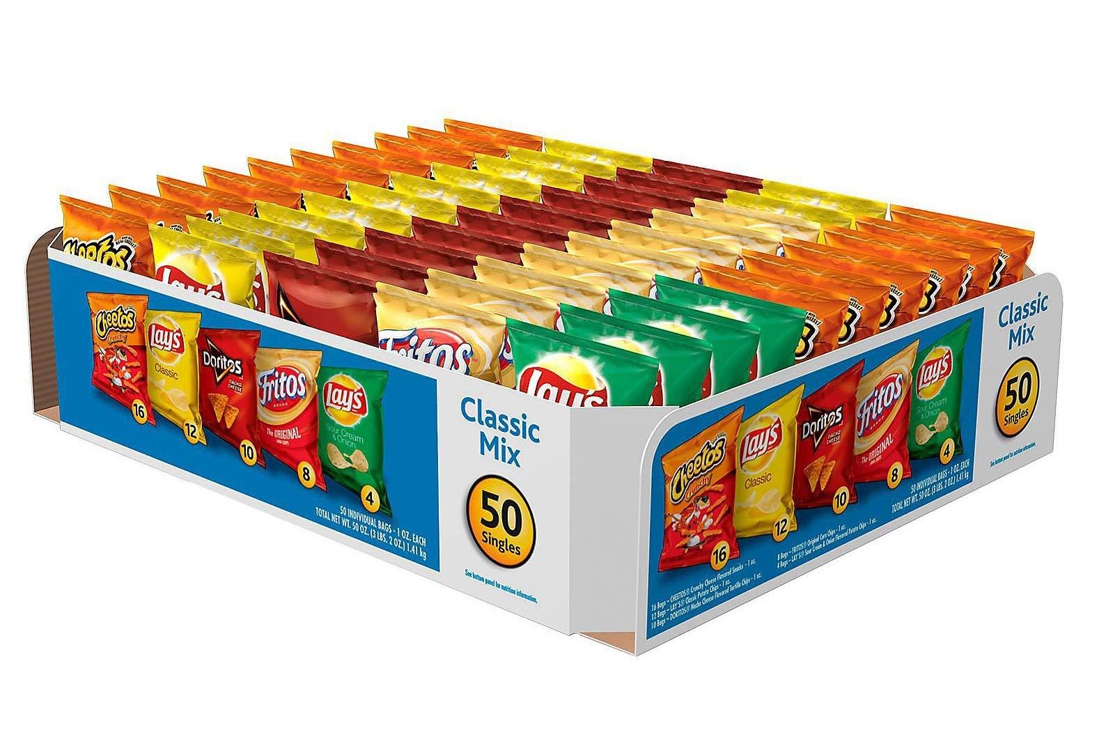 Frito Lay''Big Grab'' Classic Mix Variety Chips, 50ct. by Frito Lay