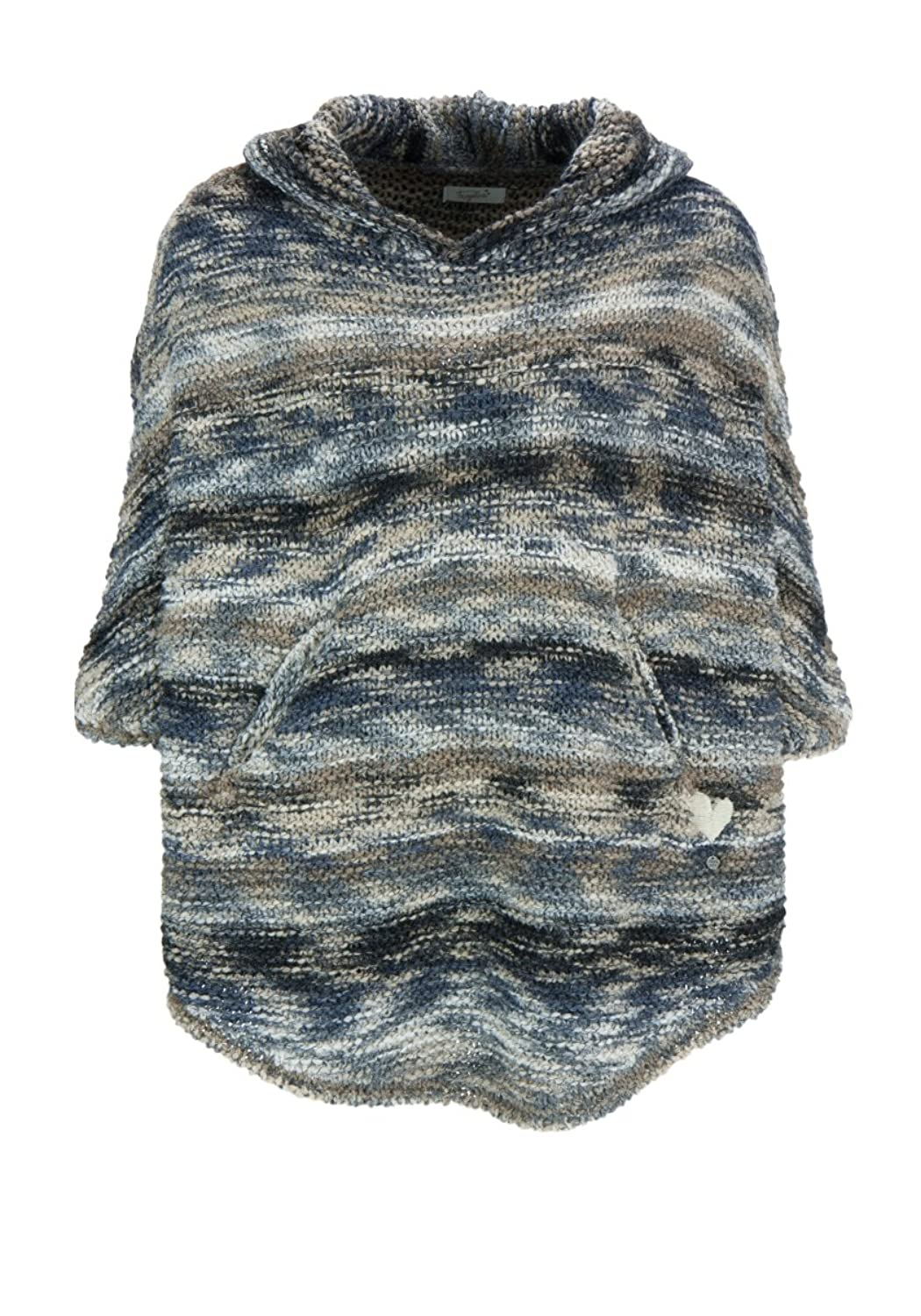 Frogbox Damen Poncho hood links knit