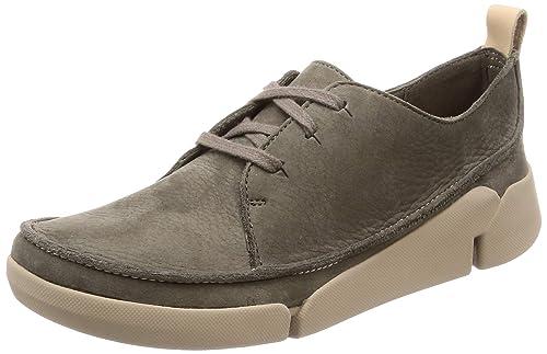 c6dfd295a44 Zapatos de Mujer CLARKS 26136657 Tri Clara Khaki Nubuck  Amazon.es  Zapatos  y complementos