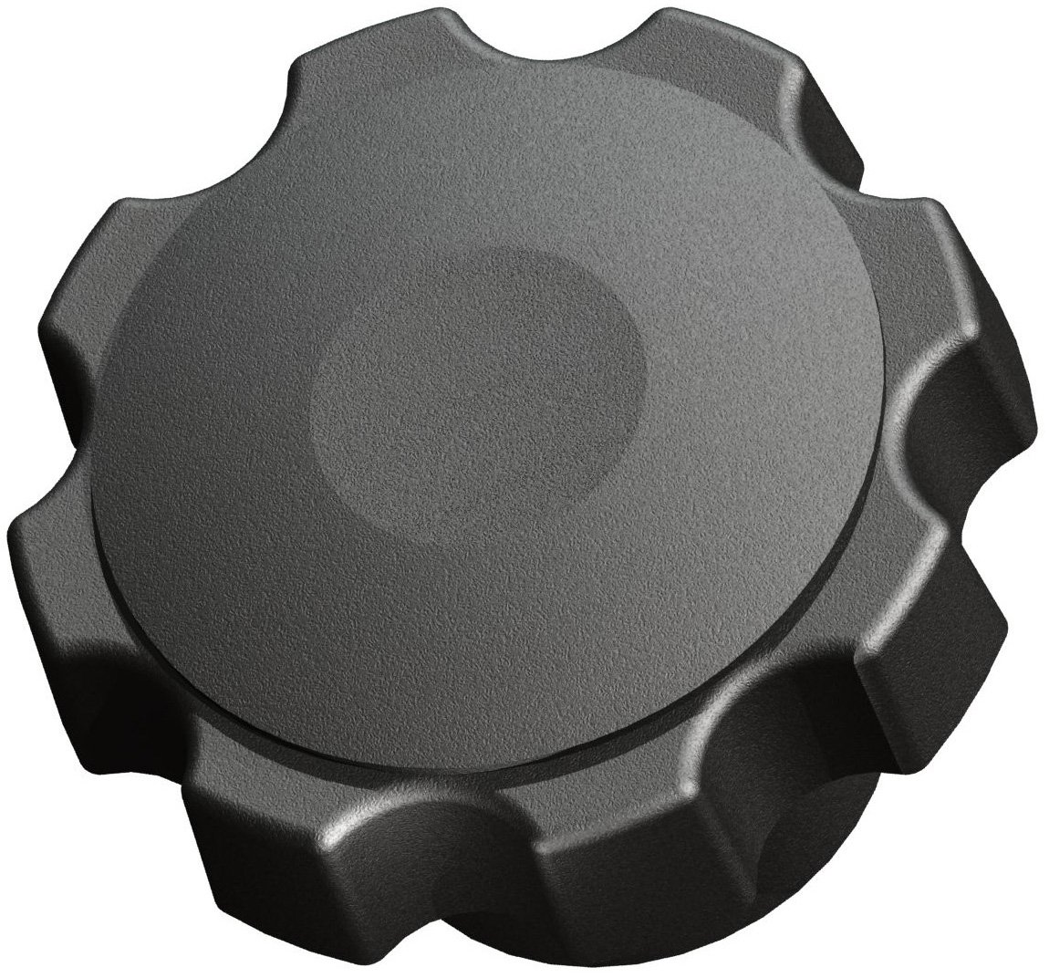 Innovative Components AN4C-F6-B-21 2.38'' Fluted knob blind 1/4-20 steel zinc insert black pp (Pack of 10)