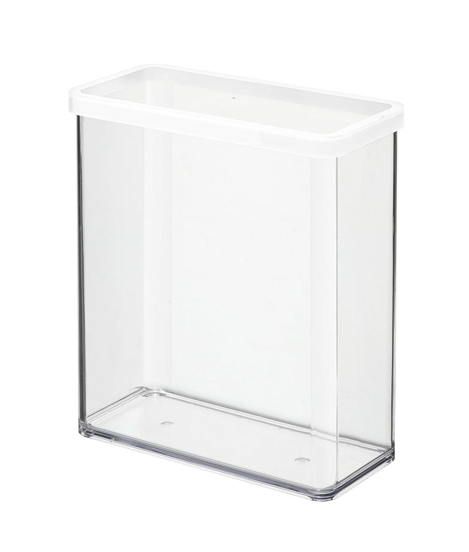 BPA-frei Kunststoff 0.5 Liter transparent // weiss 10 x 10 x 7,2 cm Rotho Loft Vorratsdose 0.5 l