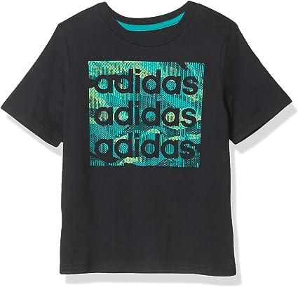adidas Boys' Short Sleeve Cotton Jersey Logo T-Shirt Tee