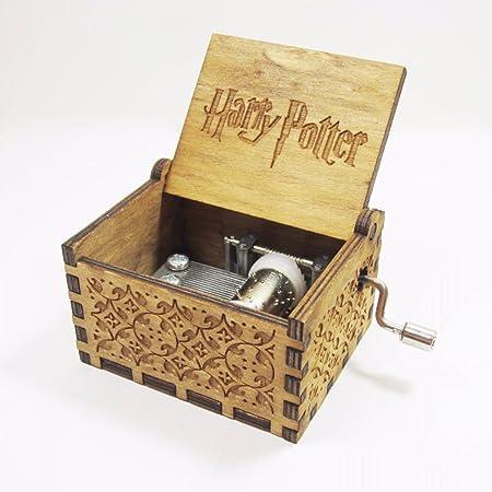 naibang Harry Potter caja de música caja de música de madera grabado interesante juguetes regalos de Navidad: Amazon.es: Hogar