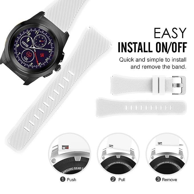For MyKronoz ZeTime Band, Lamshaw Silicone Sport Replacement Band for MyKronoz ZeTime Smartwatch (White)