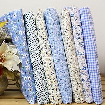 7pcs Square Floral Cotton Material Nähen Handwerk Patchwork Tuch 25 ...