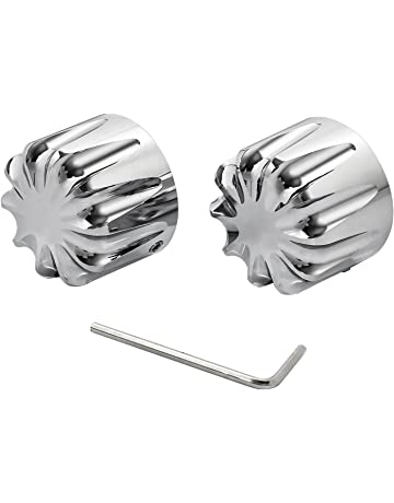 Black Shallow Cut Front Axle Cap Nut Cover For Harley Dyna Touring Street Glide 08 09 10 11 12 13-16 VistorHies