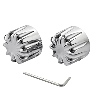 Black 04 Senkauto Front Axle Cap Nut Cover For Harley Sportster Touring Dyna Touring Softail Electra Street Glide