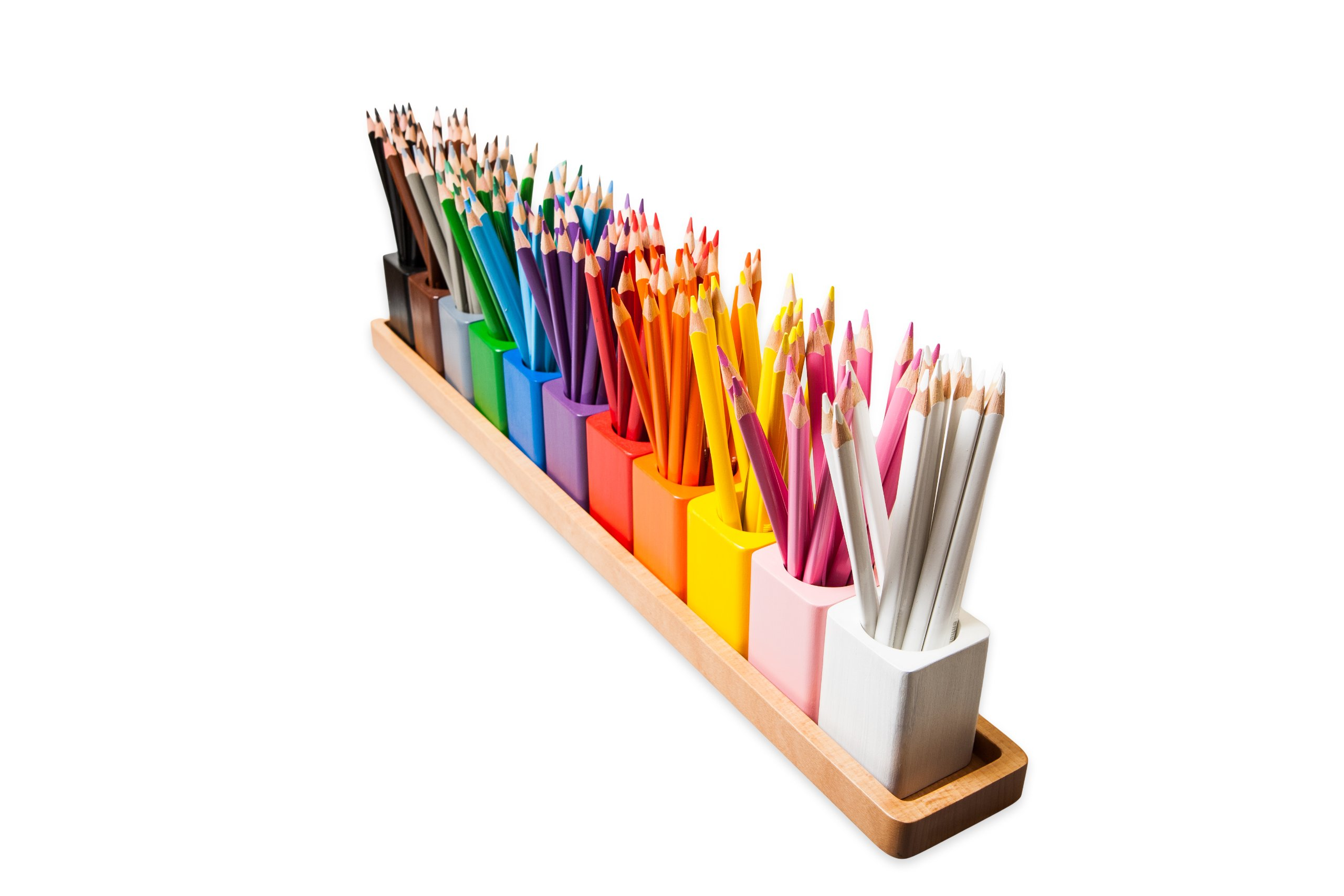 Amazing Child Montessori Pencil Holders On A Wooden Stand - PENCILS NOT INCLUDED
