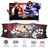 YaJing Pandoras Box 4S Arcade Game Console with 800 Retro Video Games - 2 Players LED Illuminated Ultra Slim Metal Double Joystick Arcade Console Pandora Box - Support HDMI VGA USB Output