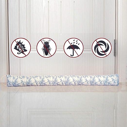 per porte a risparmio energetico fowong Paraspifferi pesante per porte e finestre isolamento termico 87 cm x 10 cm marrone fonoassorbente sotto la porta protezione dalle intemperie