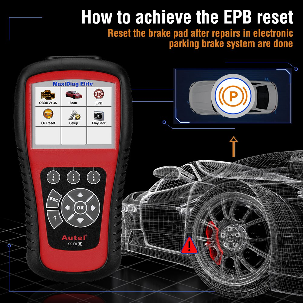 Autel Professional Scan Tool MaxiDiag Elite MD802, OBD2 Car Code Reader for All Systems, Car Diagnostic Scanner for All Electronic Modules (Engine, Transmission, ABS, Airbag), EPB, Oil Service by Autel (Image #4)