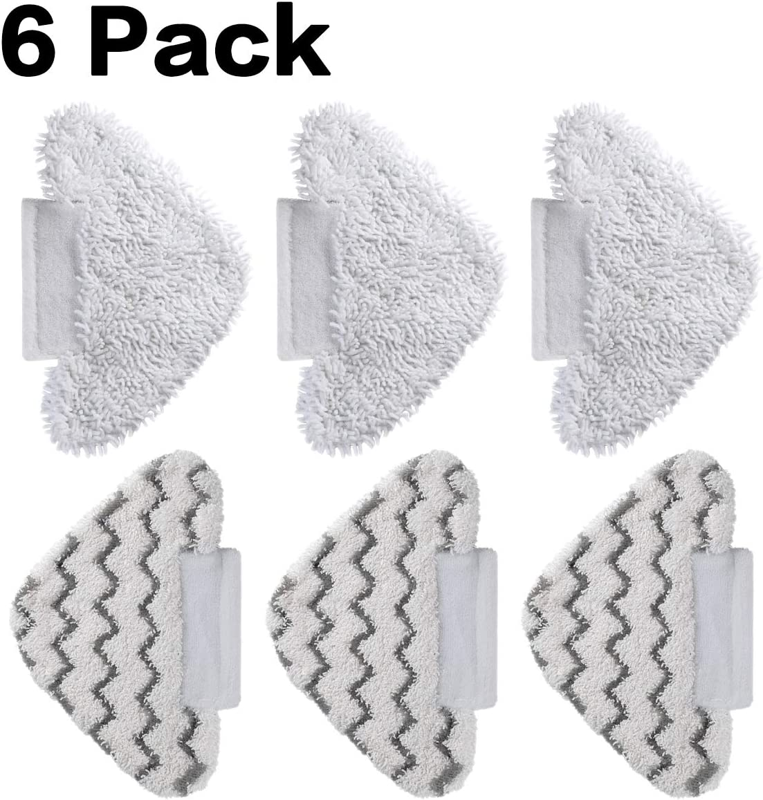 S3973D Washable Cleaning Mop Pads for One-Year Use FutureWay Steam Mop Replacement Pads for Shark S5003D 6-Pack