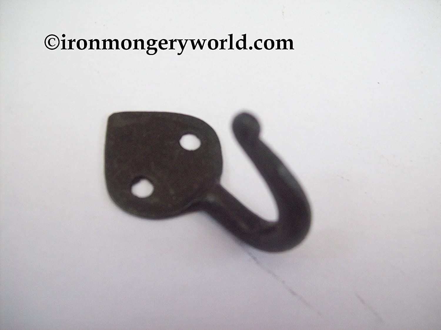 ironmongery world hand forged made wrought iron gothic hat coat ironmongery world hand forged made wrought iron gothic hat coat key robe hooks blacksmith beeswax in 11 options small 40mm leaf end black wax finish