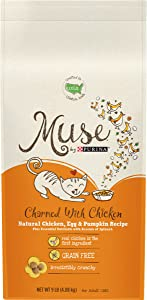 Muse by Purina Natural, Grain Free Dry Cat Food, Charmed With Chicken, Egg & Pumpkin Recipe - 9 lb. Bag