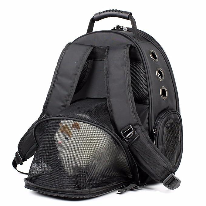 Mascota Mochila Poliéster Cómodo Respirable Perro Espacio Paquete Gato Fuera Portátil Anti-Escape Nido Escalable Al Aire Libre Viaje Calmante Para El Estrés ...