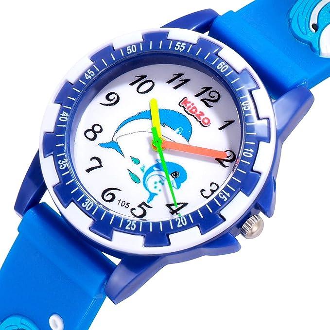 Kidzo Dolphin Buddies Blue Analog Boy