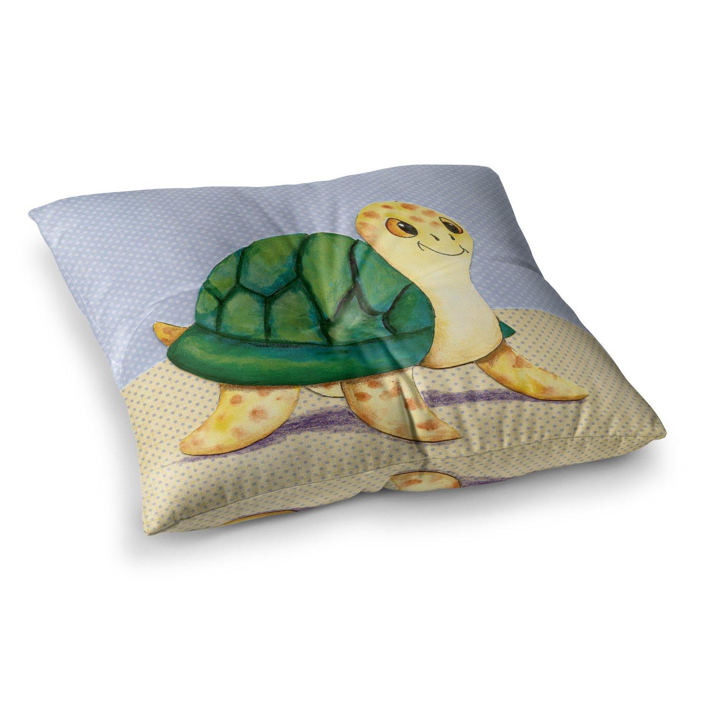 23 x 23 Square Floor Pillow Kess InHouse Padgett Mason Slow and Steady