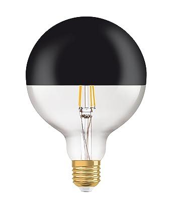 Osram Vintage 1906 Led Bombilla LED Globo con Cúpula Negra, 680 Lumen, 15.000 Horas