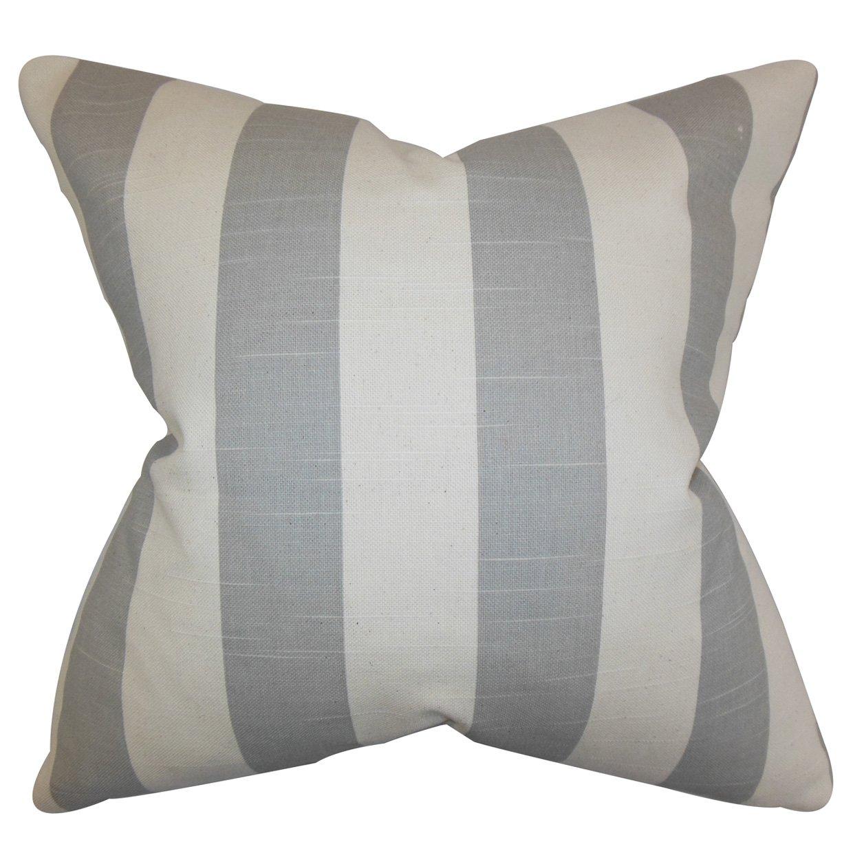The枕コレクションp20-pp-stripe-coastalgrey-natu Acanthaストライプ枕、グレー、20
