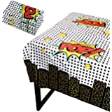 Blue Panda Superhero Party Tablecloth - 3-Pack Disposable Plastic Rectangular Table Covers - Comic Book Themed Party Supplies