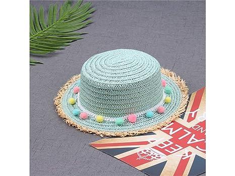 Young shinee Cappello per Bambini Bambini Colorati Palla Cappello a Falda  Larga Cappello da Sole Protezione 63a8c849533a