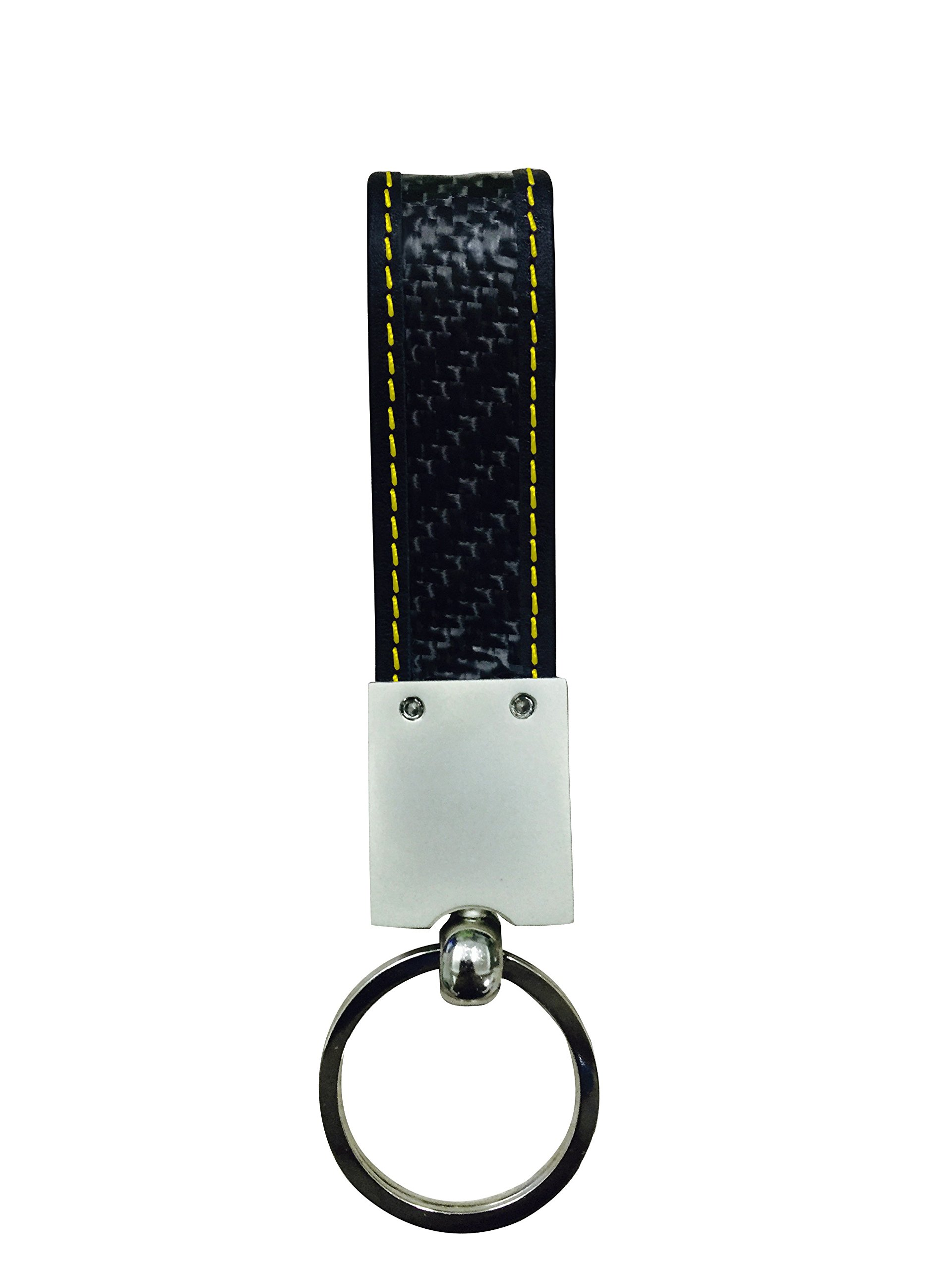 Real Carbon Fiber Keychain Elegant, MGCFTan Timeless Key chain Yellow