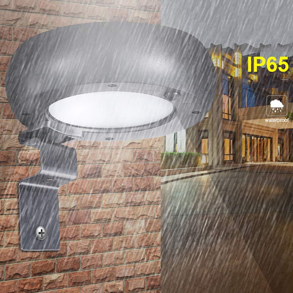 Solare Outdoor Lampada da Parete A Microonde Radar A Induzione rossoonda in Lega di Alluminio Cortile Lampada da Parete (2 Pezzi)