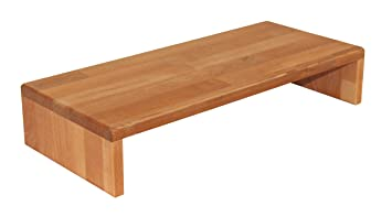 Réhausseur de bureau en bois de hêtre massif huilé pour écran d