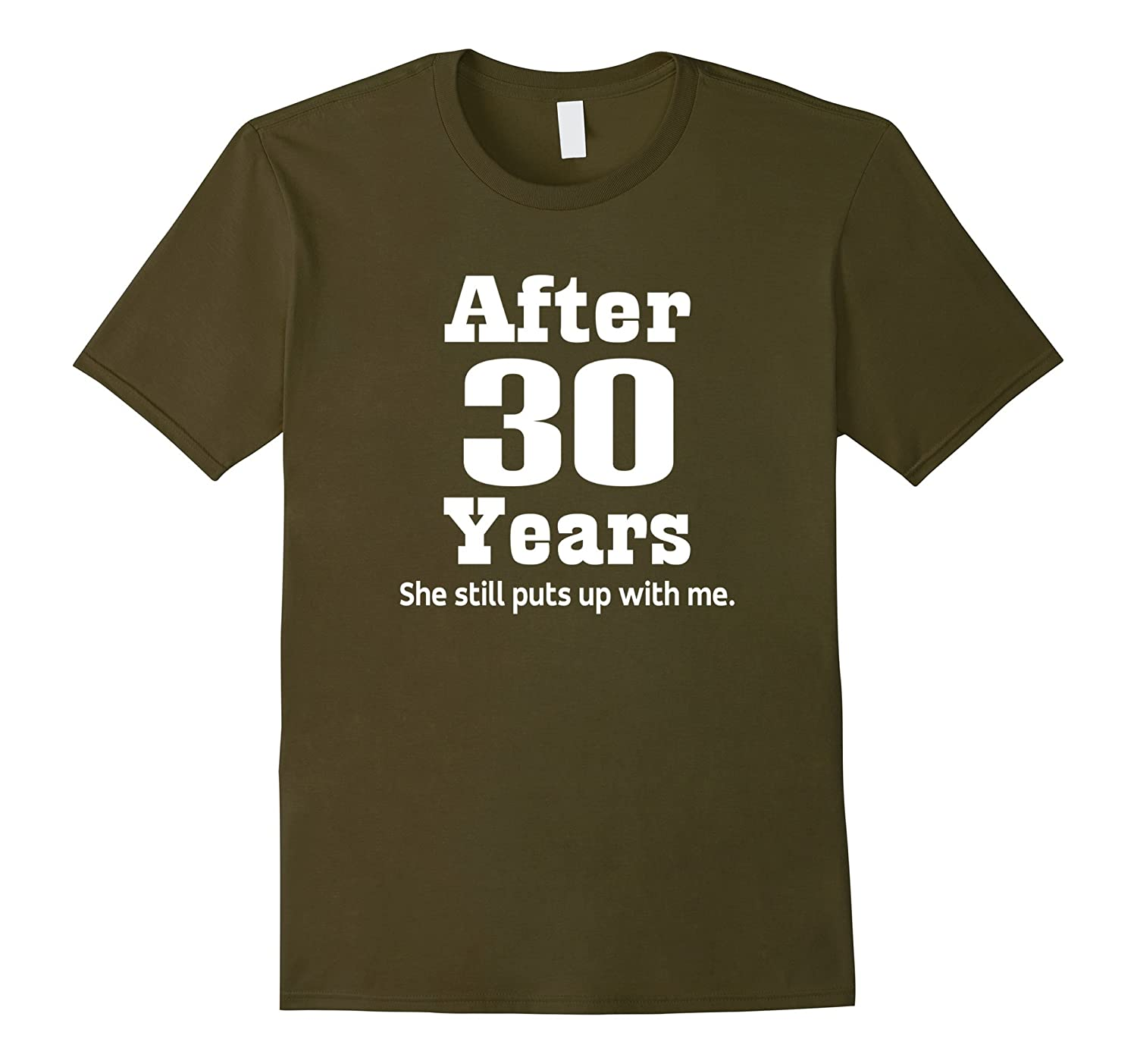 30th Wedding Anniversary Gift Ideas For Men: 30th Anniversary T-shirt Funny Mens Party Photo Tee-Art