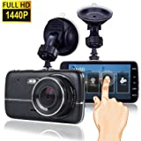 Dash Cam, Car Dash Camera for cars Vehicle Full HD 1440P Touch Screen, Dashboard Camera Car Video Recorder,Wide Angle 170° Lens (1)