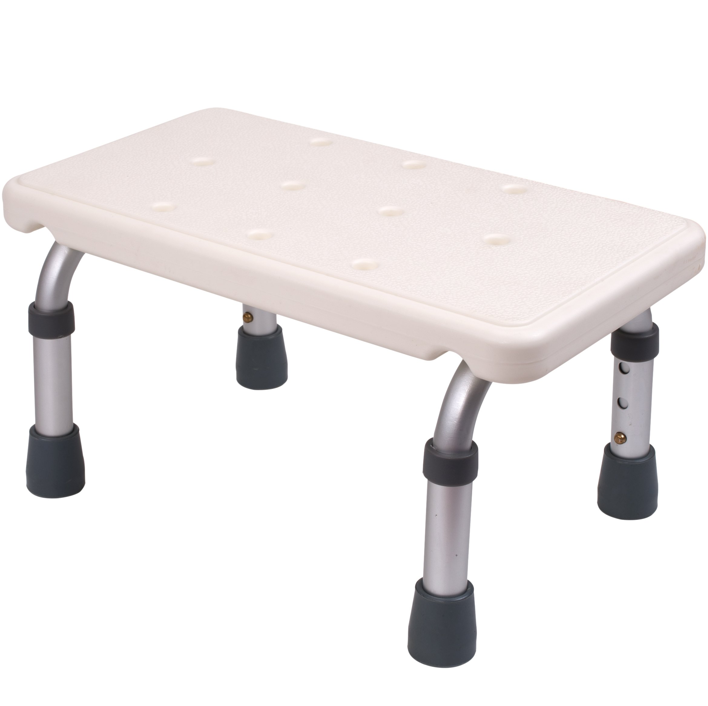 Medokare Adjustable Foot Stool - Stepping Stool for Adults and Children, Bedside High Bed Step for Seniors, Foot Stool Under Desk, Heavy Duty Portable Medical Footstool for Bath Or Kitchen Foot Step by Medokare