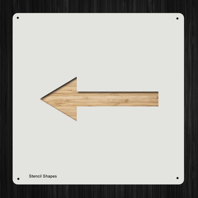 矢印 左アキュート 左詰め物 矢印 プラスチック マイラーステンシル 塗装 壁 工芸用 アイテム 209973   B07DM8H4HX