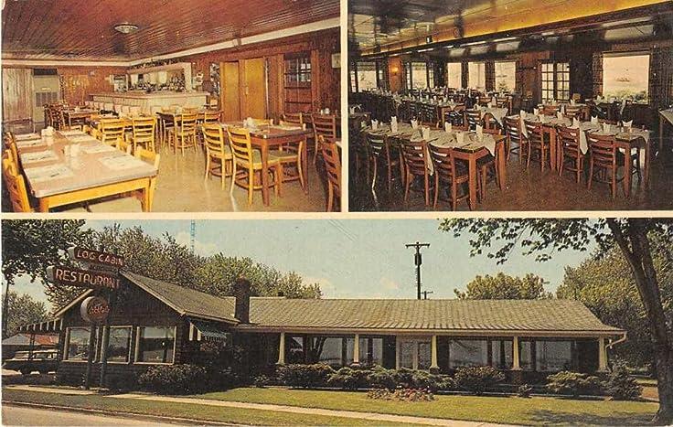 Sandusky Ohio Log Cabin Restaurant Vintage Postcard J54952 At