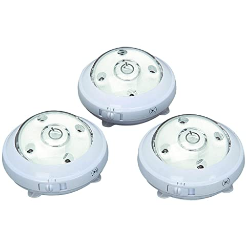 3 pack wireless 5 led puck lights with ambient sensor track 3 pack wireless 5 led puck lights with ambient sensor aloadofball Images