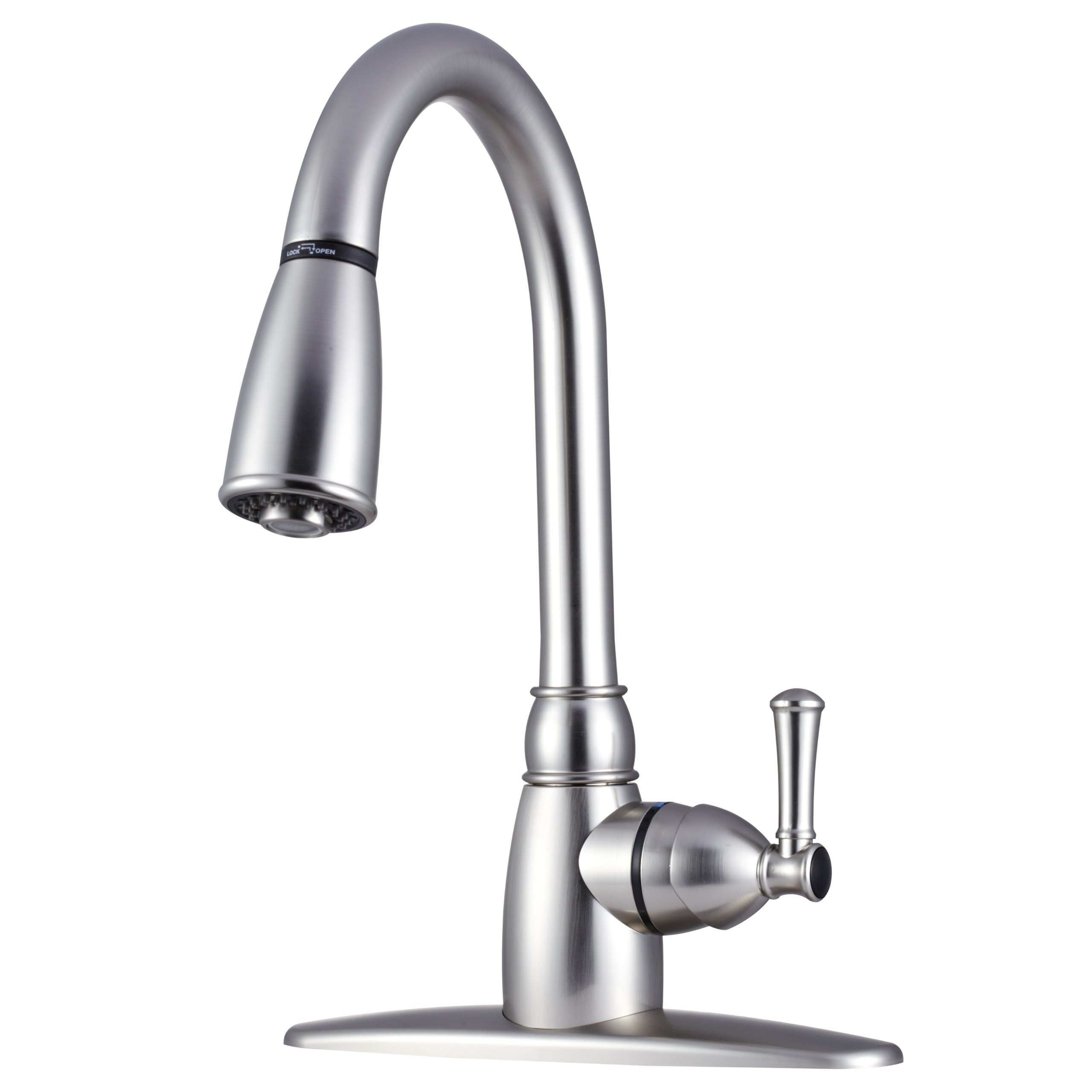 Dura Faucet DF-PK160-SN Non-Metallic Pull-Down Rv Kitchen Faucet - Brushed Satin Nickel