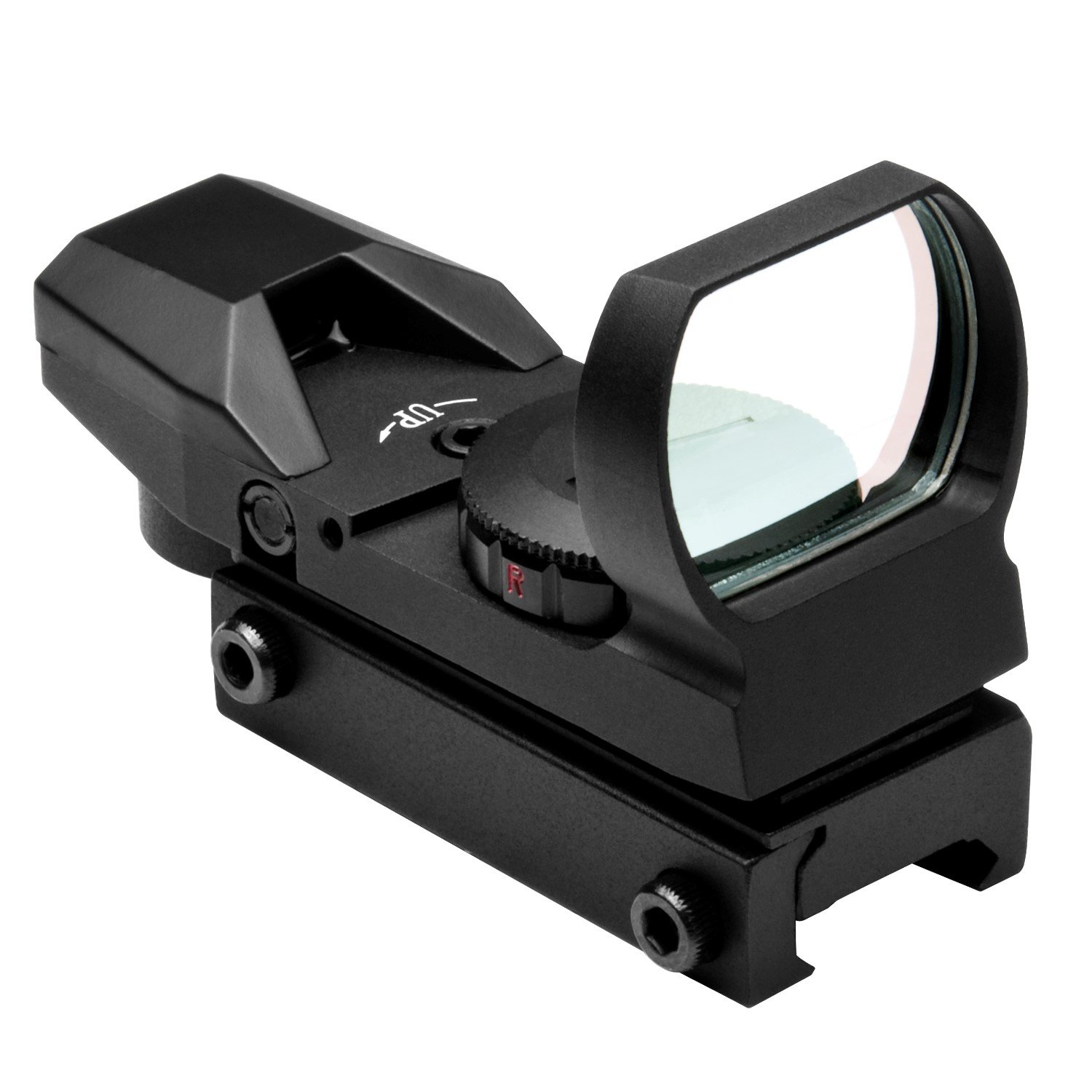NcStar Red and Green Dot Reflex Sight/4 Different Reticles/Weaver Base (D4RGB), Black by NcSTAR