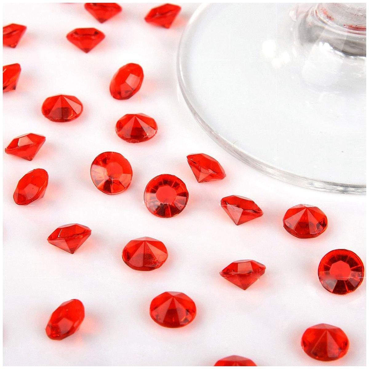 TOOGOO ( R ) 5000 4.5 MMダイヤモンド散布クリスタル結婚式テーブルデコレーション( Aqua Blue ) レッド B077HKH8QS レッド レッド